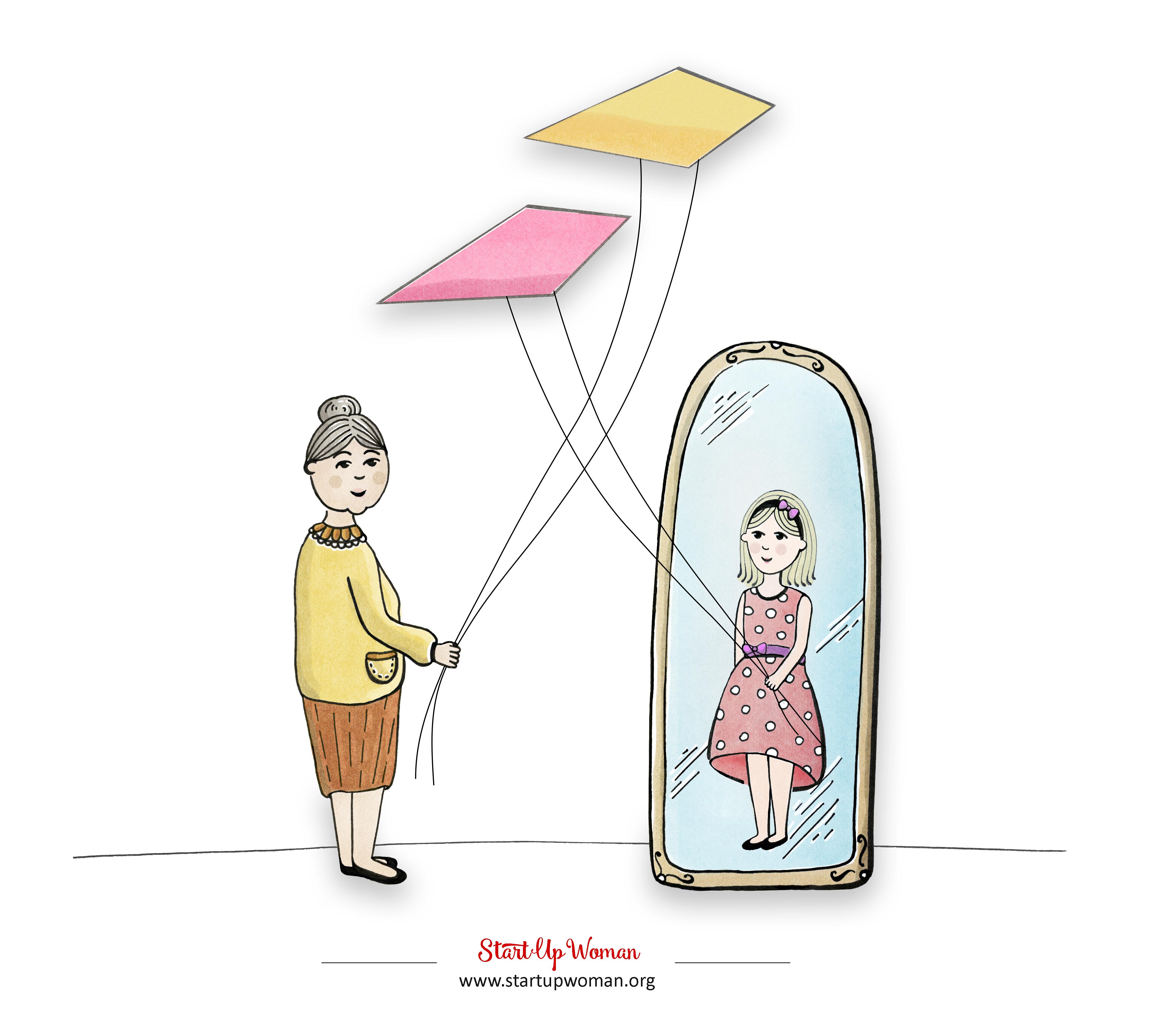 kobiety z lustrem