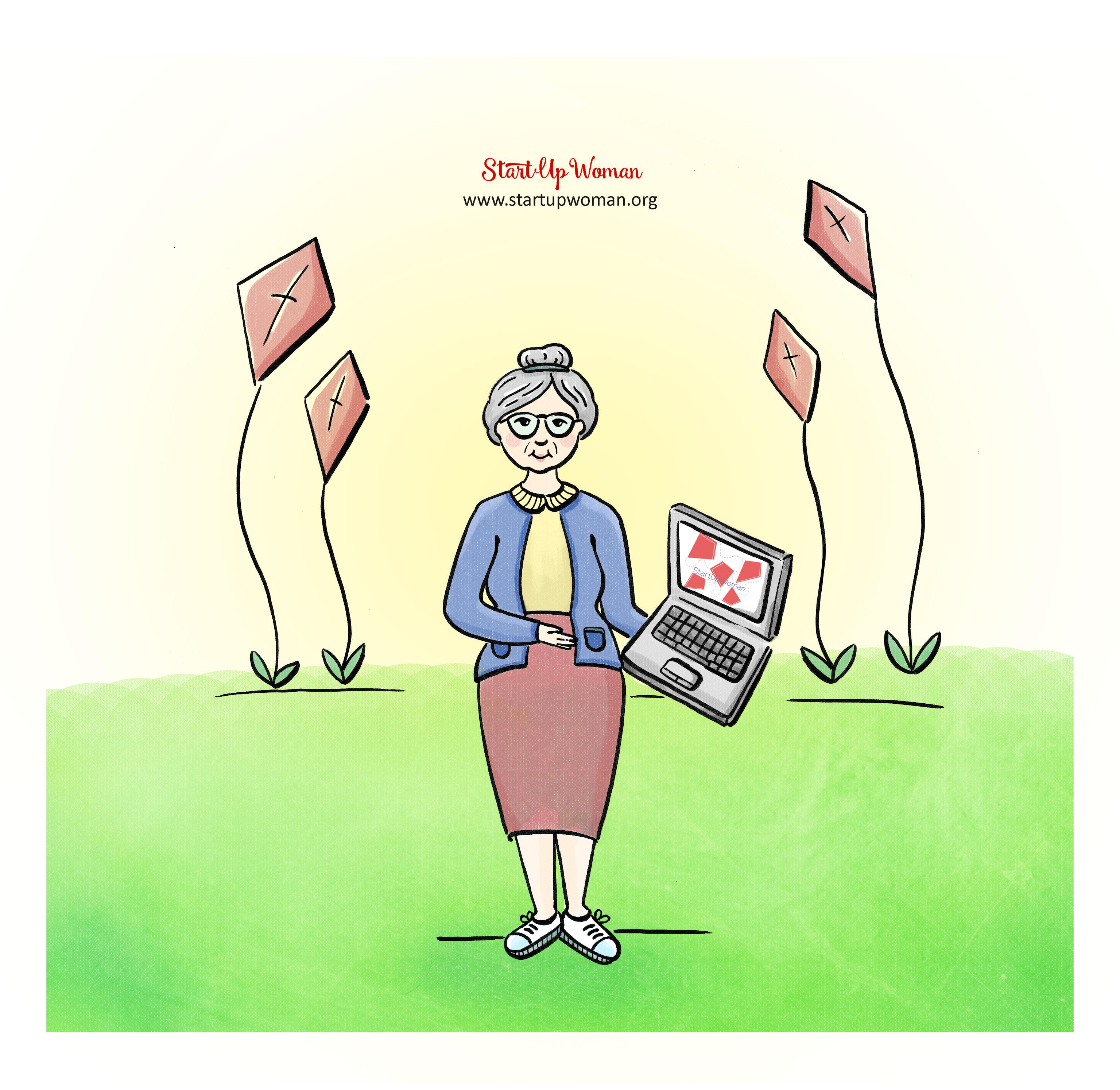babcia z laptopem