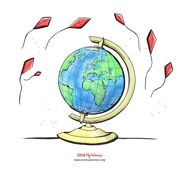 globus z latawcami