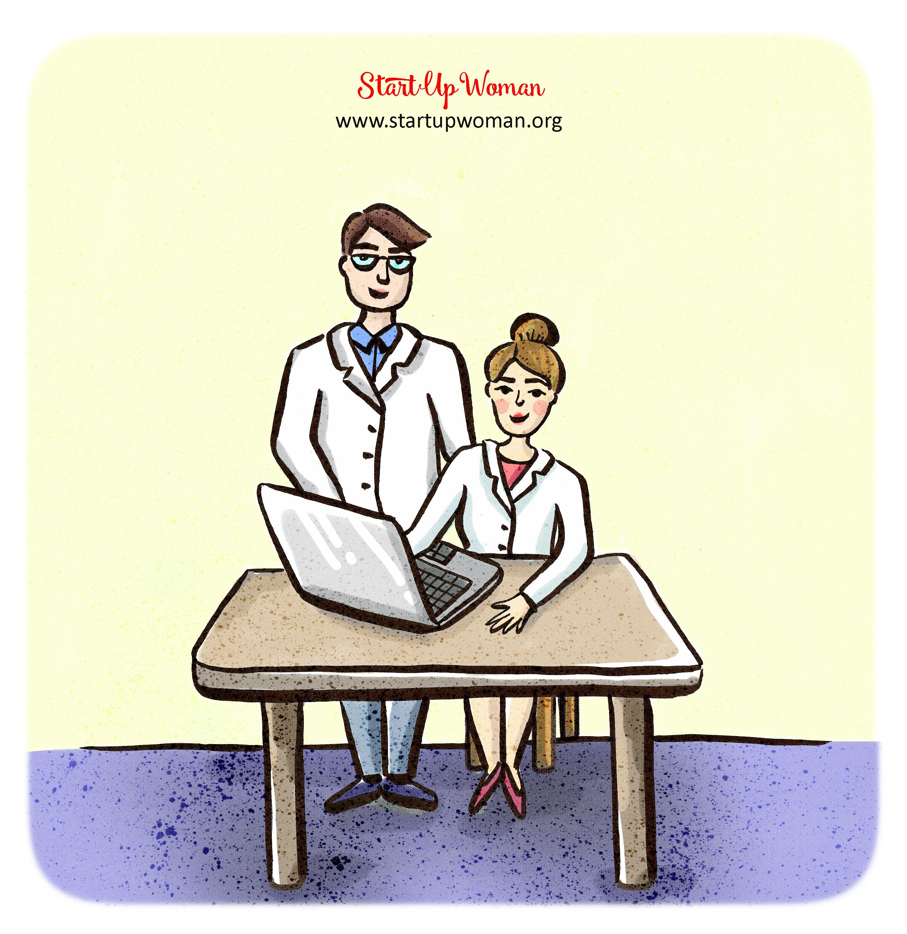 przy komputerze